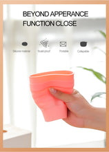Load image into Gallery viewer, 355mL Mint Portable Folding Cup Silicone Collapsible Coffee Cup Free Straw Expandable