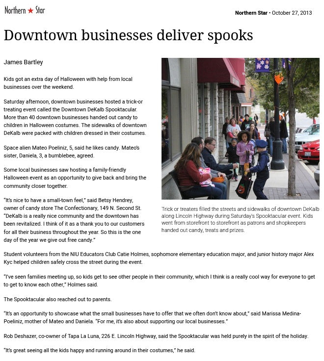 Downtown businesses deliver spooks 10/27/13