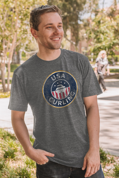 USA Curling Classic Triblend Unisex - Heather
