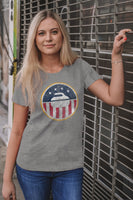 USA Curling Women's Triblend Crew Tee - Heather - B5SFJ