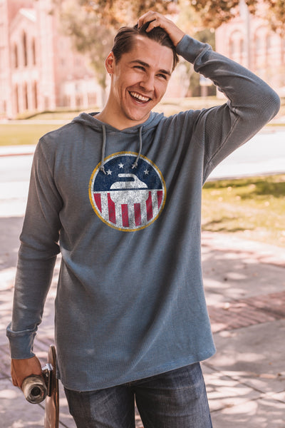 USA Curling Thermal Hoodie