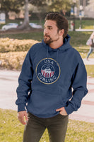 USA Curling Sanded Fleece Pullover - Steel Blue