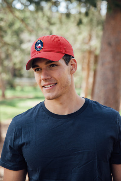 USA Curling Red Dad Cap