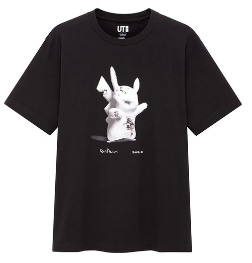 Daniel Arsham x Pokemon x Uniqlo Pikachu Tee (US Mens Sizing) Black