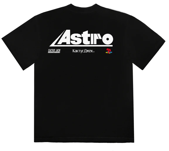 Travis Scott T-3500 Portrait T-Shirt Black