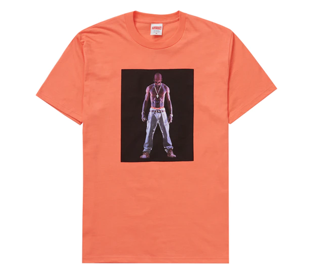 Supreme Tupac Hologram Tee Neon Orange (4641243922510)