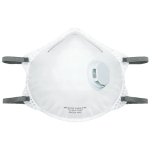 N95 Cone Respirator Fitted with Exhalation Valve