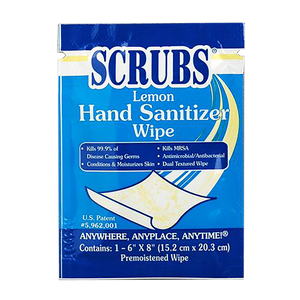 SCRUBS HAND SANITIZER WIPES (Box of 25)
