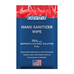 "6 ml Hand Sanitizer Wipe, 75% Isopropyl Alcohol Solution 6"" x 6"" (Box of 25)"