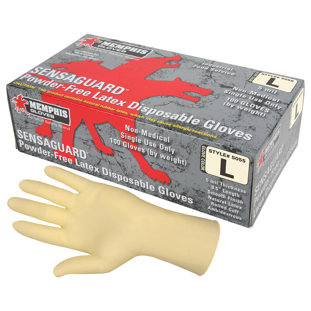 Latex Gloves Powder Free 5 Mil (1 Box)