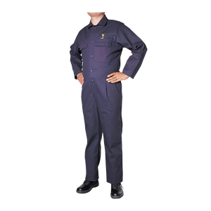 Navy Blue Coveralls w/ snaps 34 Inseam
