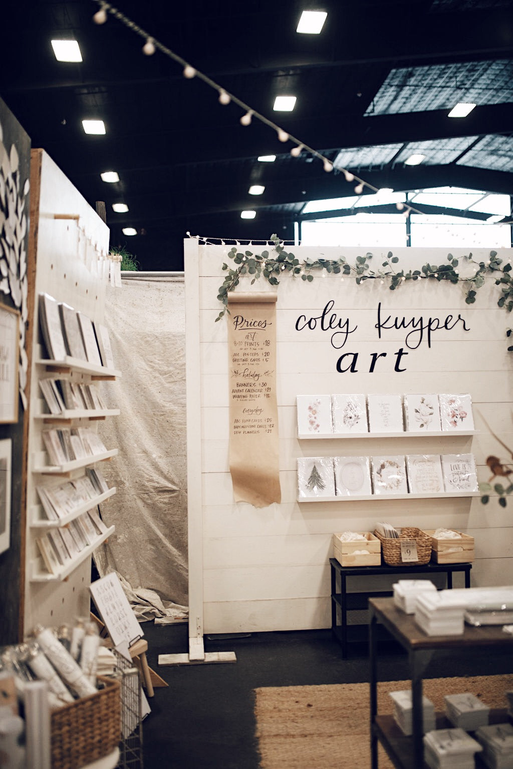 coley kuyper art booth at junk in the trunk vintage market