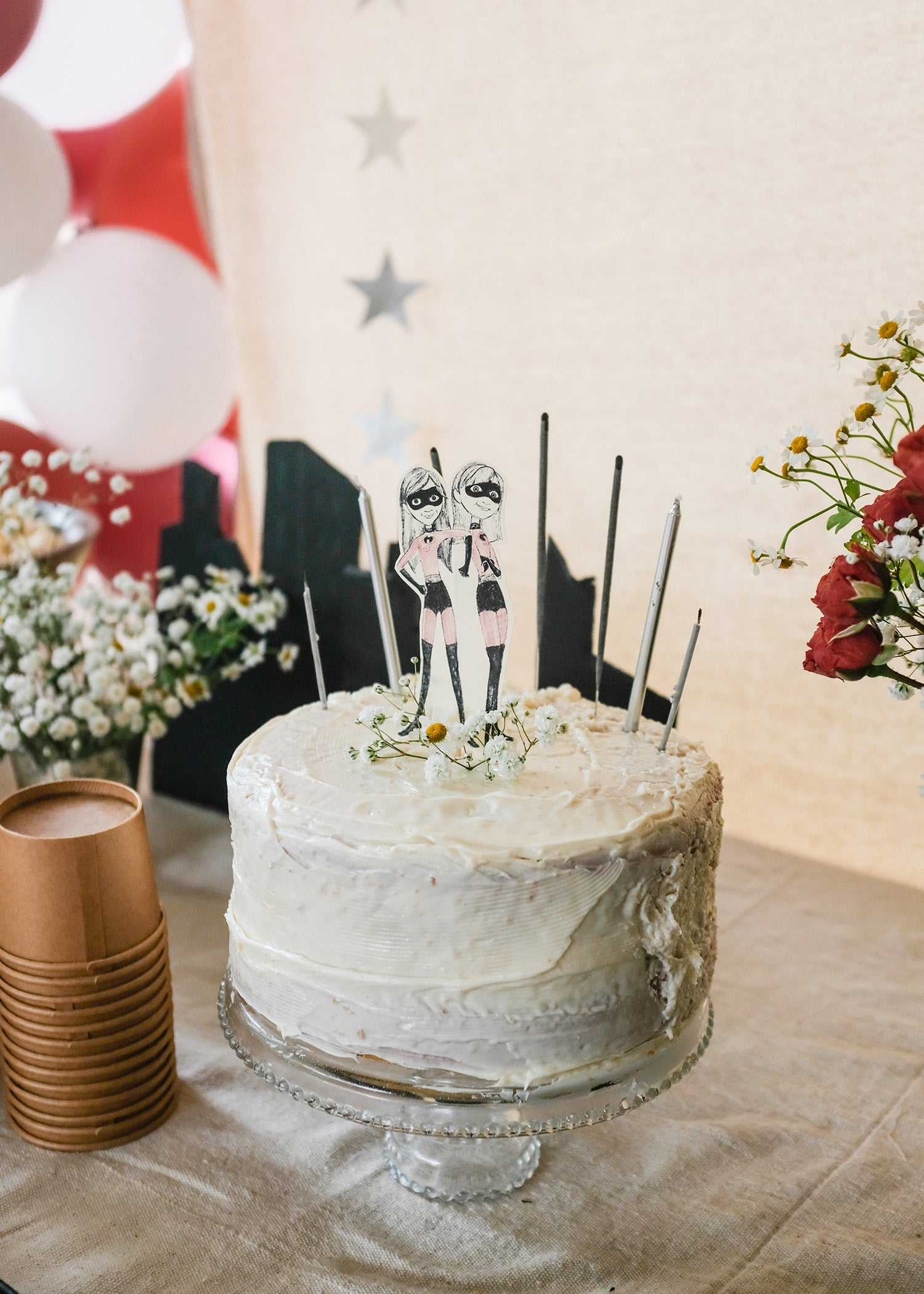 the incredibles inspired birthday cake