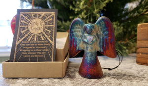 "2.5"" Raku Spirit Angel Ornament"