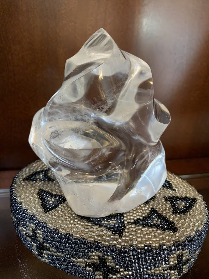 Clear Quartz Flame