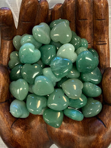 Green Aventurine Hearts