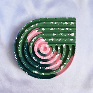 Tri-colour Circle Point Coaster