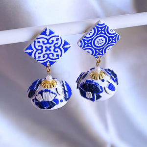 White and Blue Porcelain with Spanish Tiles
