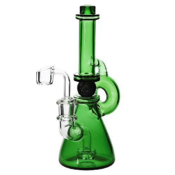 "Ball Spindle Water Pipe 10"" Green"