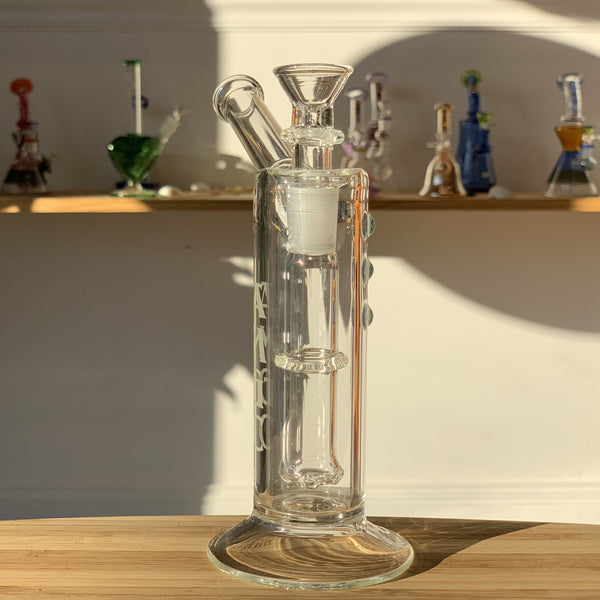 heady water pipe, heady glass, clear sidecar design, water pipe, heady glass water pipe