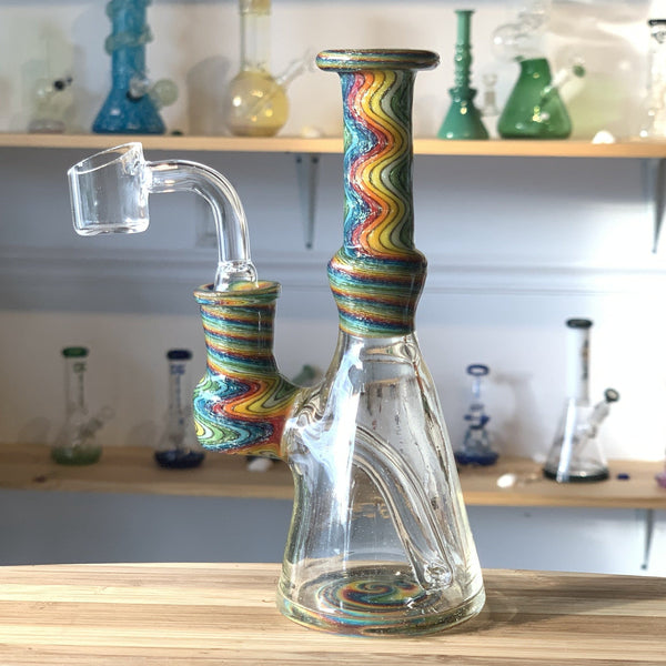heady water pipe, unique glass water pipe, artist hand blown