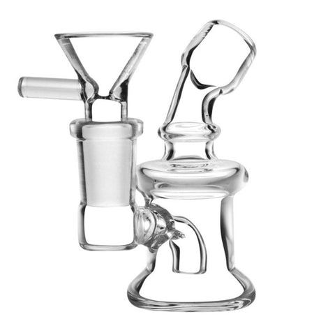 "Travel Size Water Pipe 3.5"" Clear Glass"