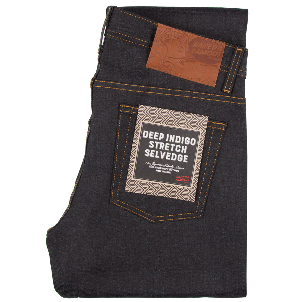 Naked and Famous- Deep Indigo Stretch Selvedge- Weird Guy