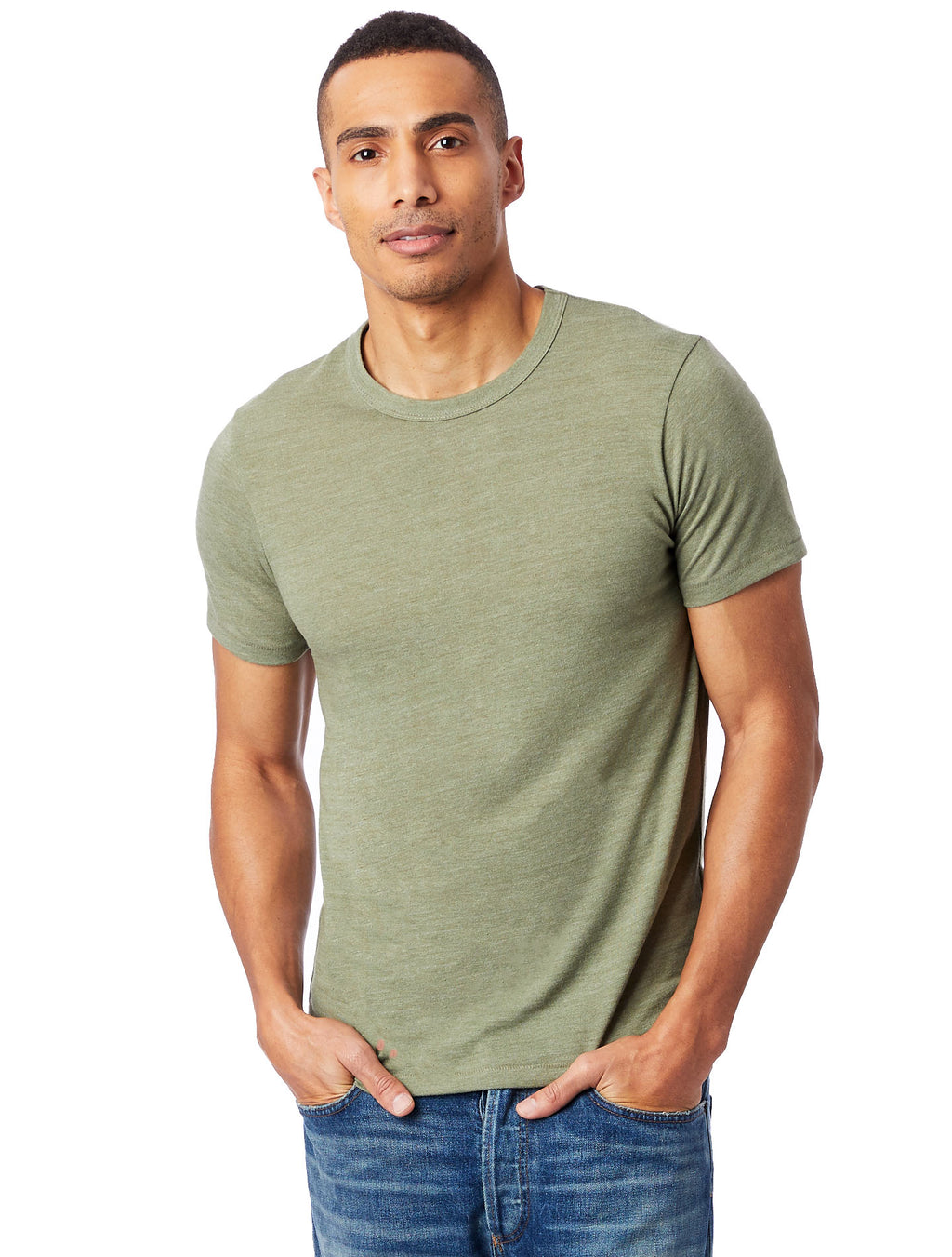 Alternative Apparel Eco Crew T-Shirt- Army Green