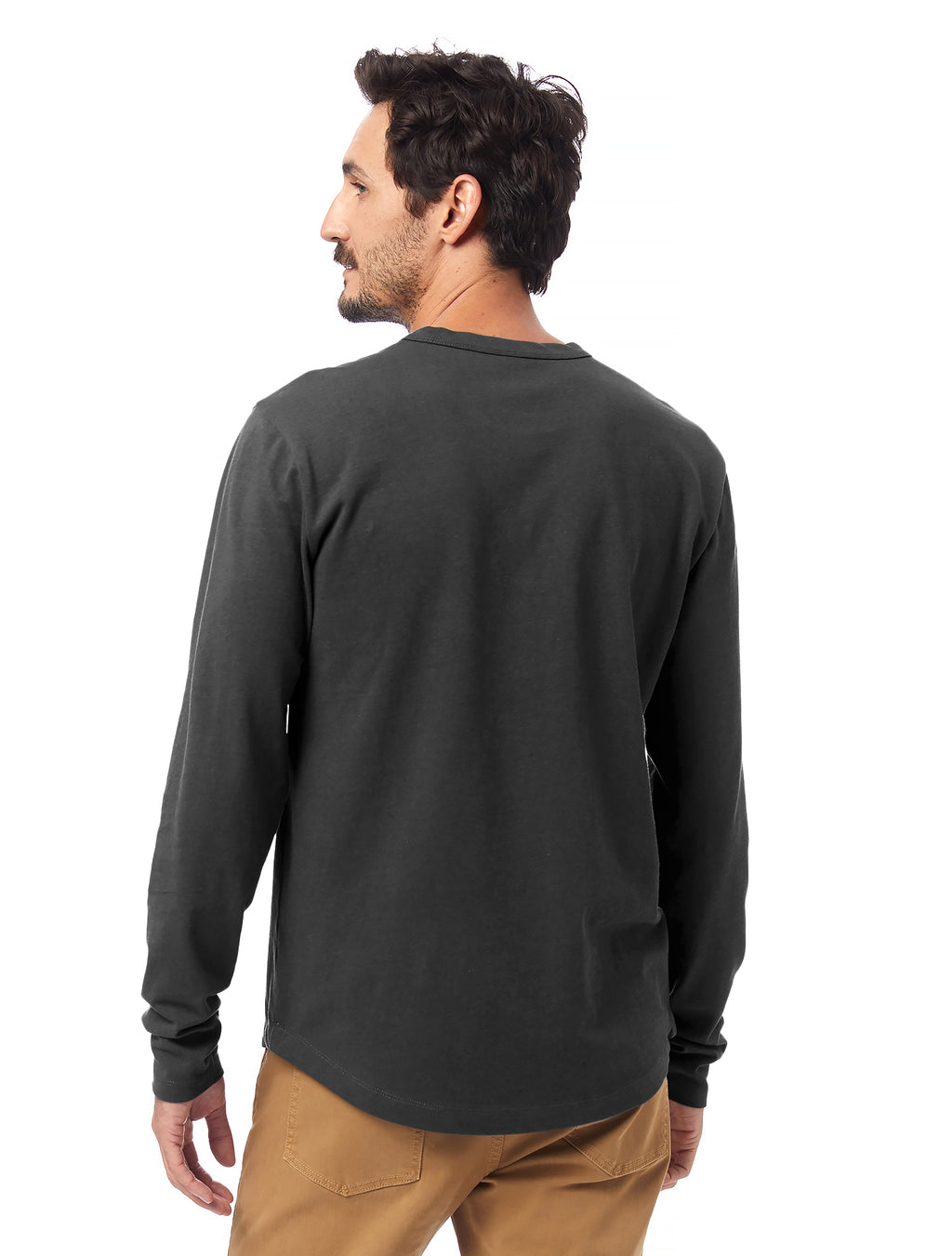 Alternative Apparel Hemp Blend Long Sleeve Tee- Shadow