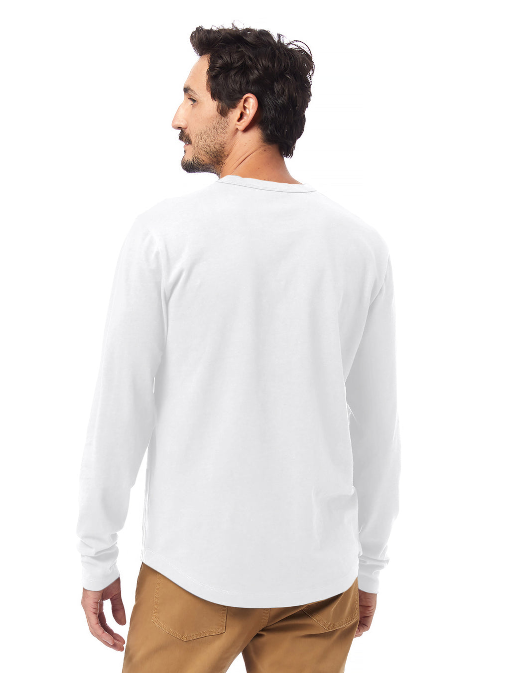 Alternative Apparel Hemp Blend Long Sleeve Tee-White