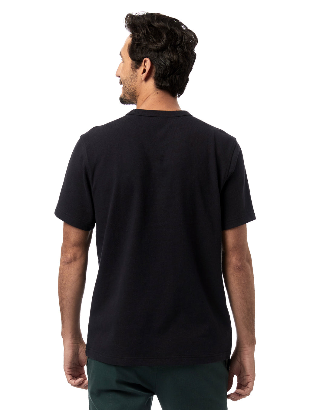 Alternative Apparel Recycled Cotton Pocket Tee- Black