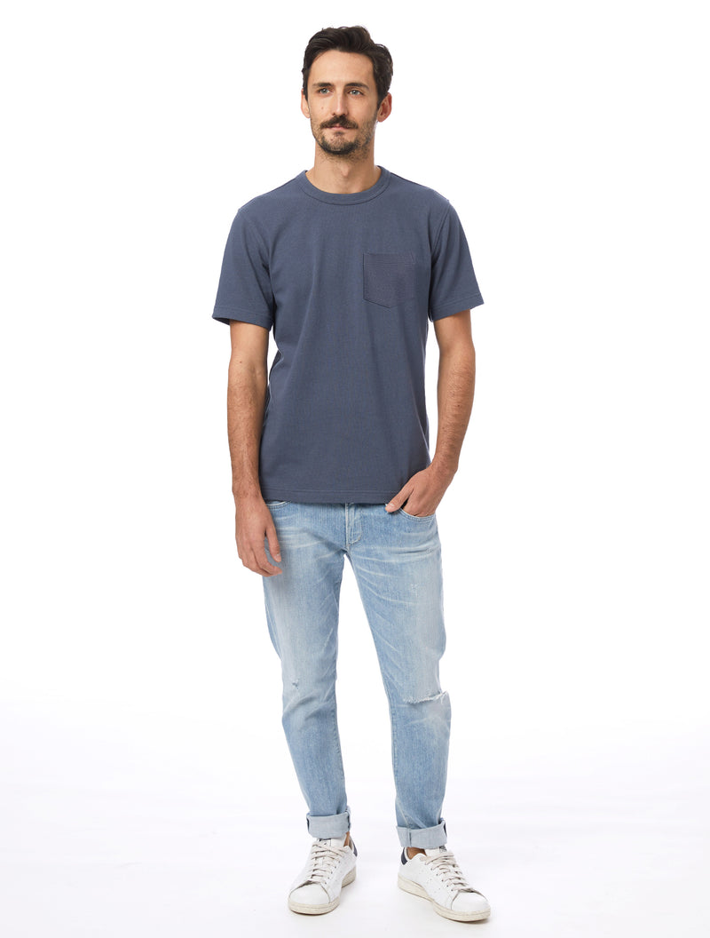 Alternative Apparel Recycled Cotton Pocket Tee- Ombre Blue