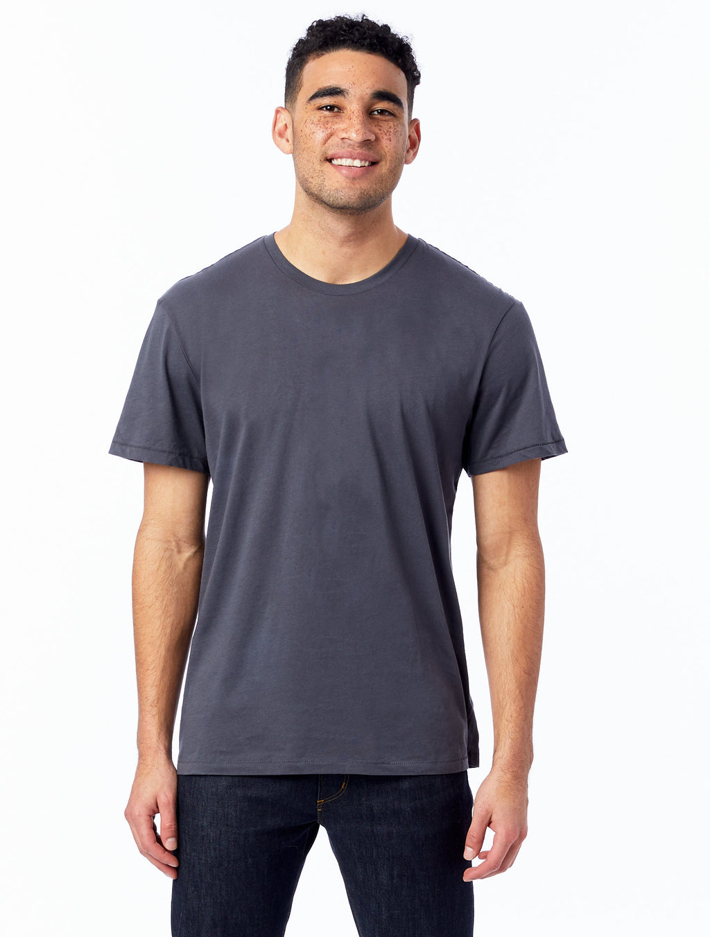 Alternative Apparel Organic Crew T-Shirt- Earth Coal