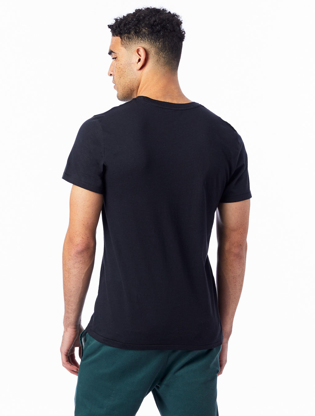 Alternative Apparel Organic Crew T-Shirt- Black