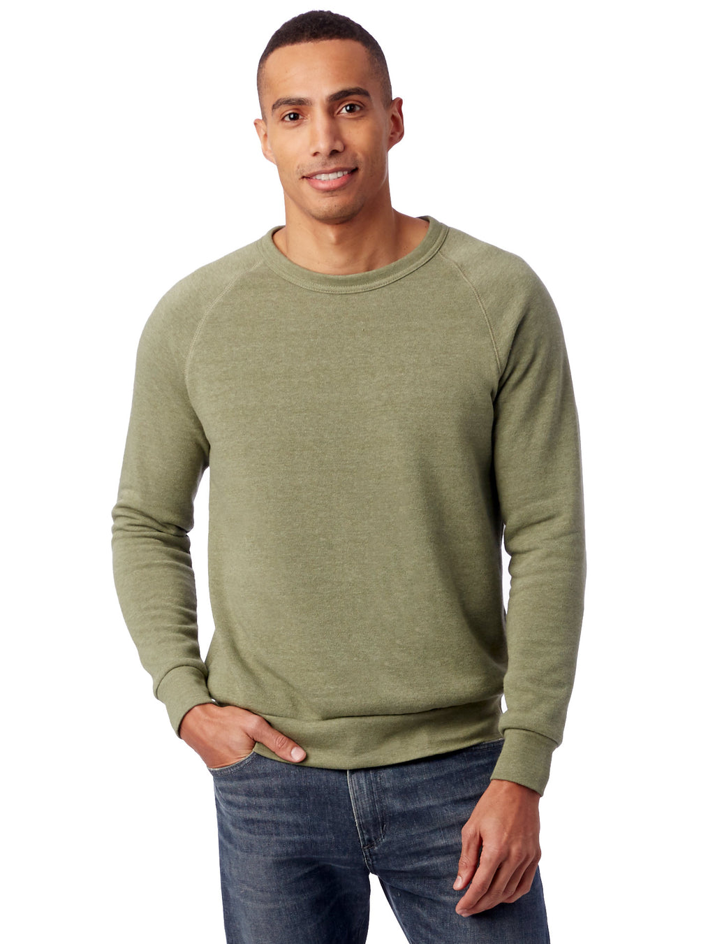Alternative Apparel Champ Eco-Fleece Sweatshirt- Army Green