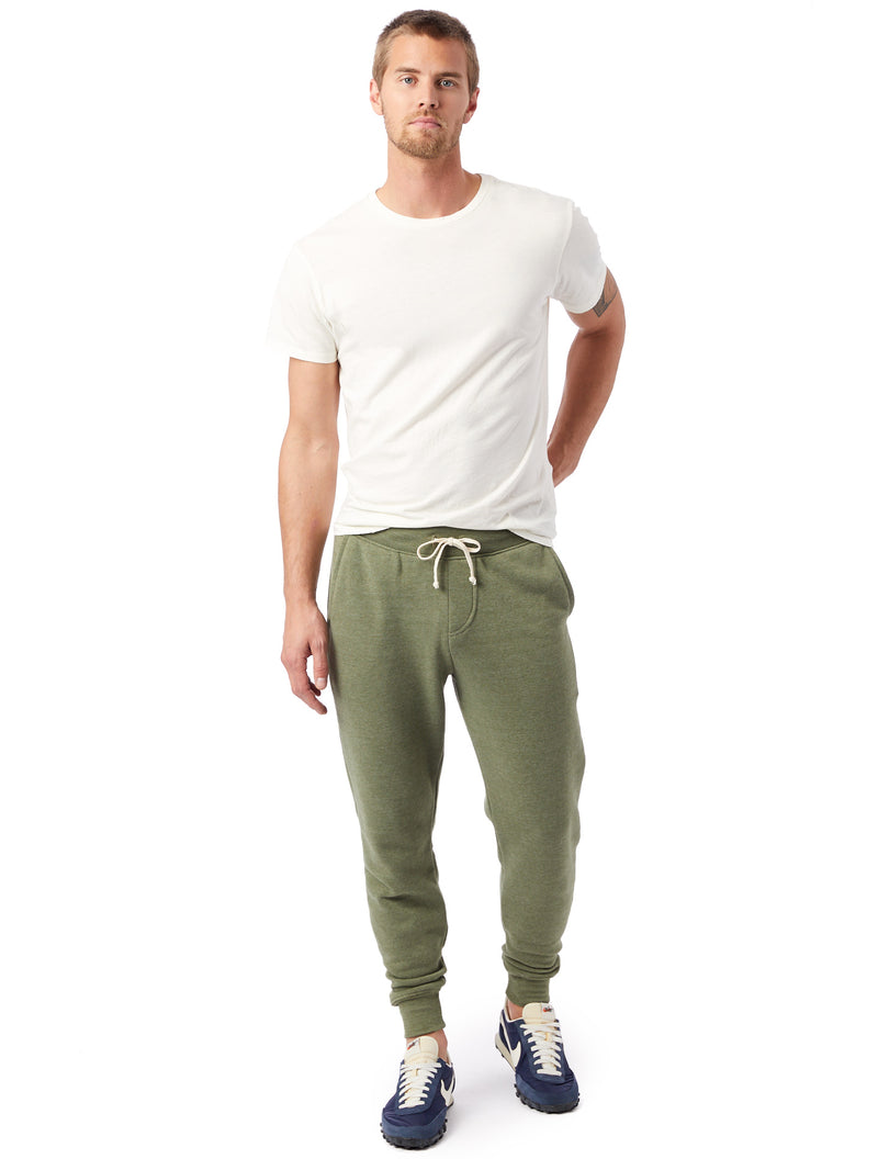 Alternative Apparel Eco-Fleece Dodgeball Pant- Army Green