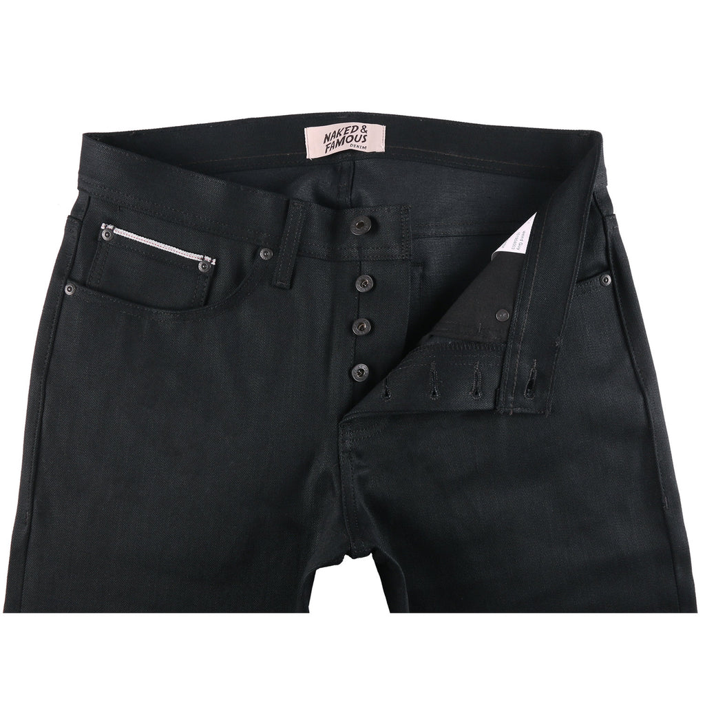 Naked and Famous- Black Cobra Stretch Selvedge- Weird Guy