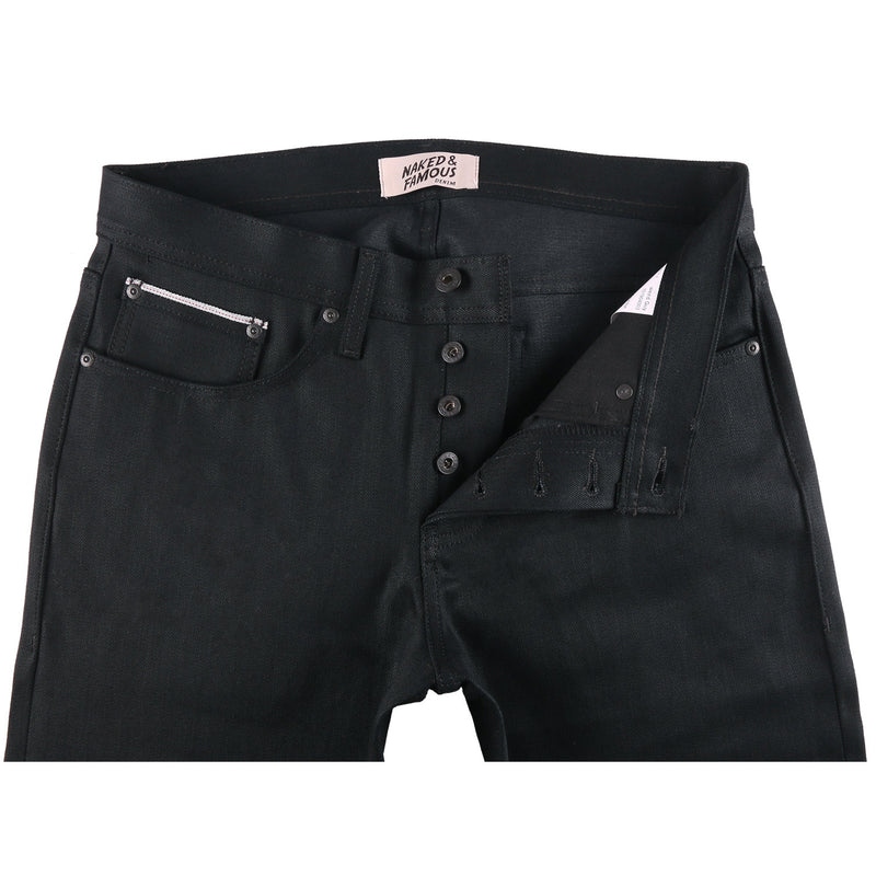 Naked and Famous- Black Cobra Stretch- Super Guy