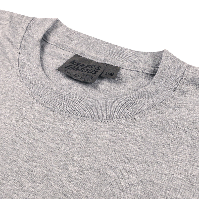 Naked and Famous- Circular Knit T-Shirt- Grey