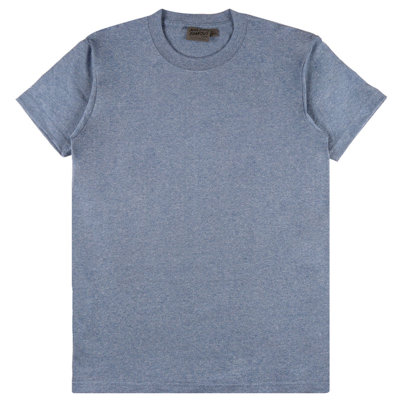 Naked and Famous- Circular Knit T-Shirt- Heather Blue