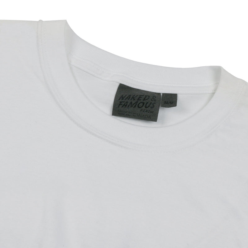 Naked and Famous- Circular Knit T-Shirt- White