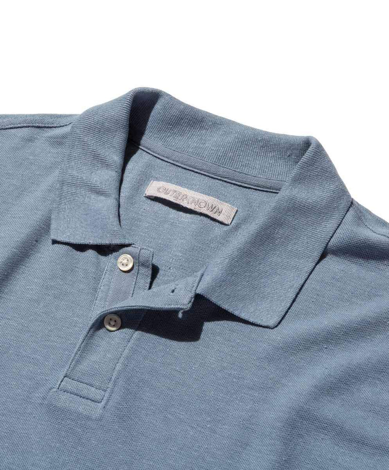 Outerknown- Nomadic Polo- Faded Denim