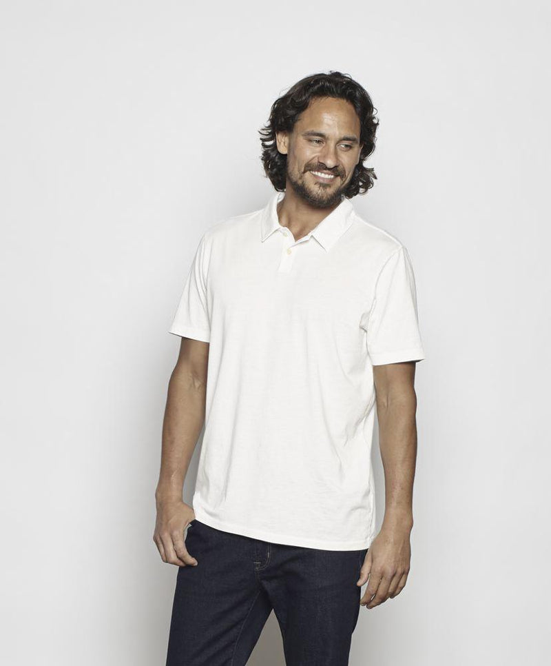 Outerknown- Dune Jersey Polo- Salt
