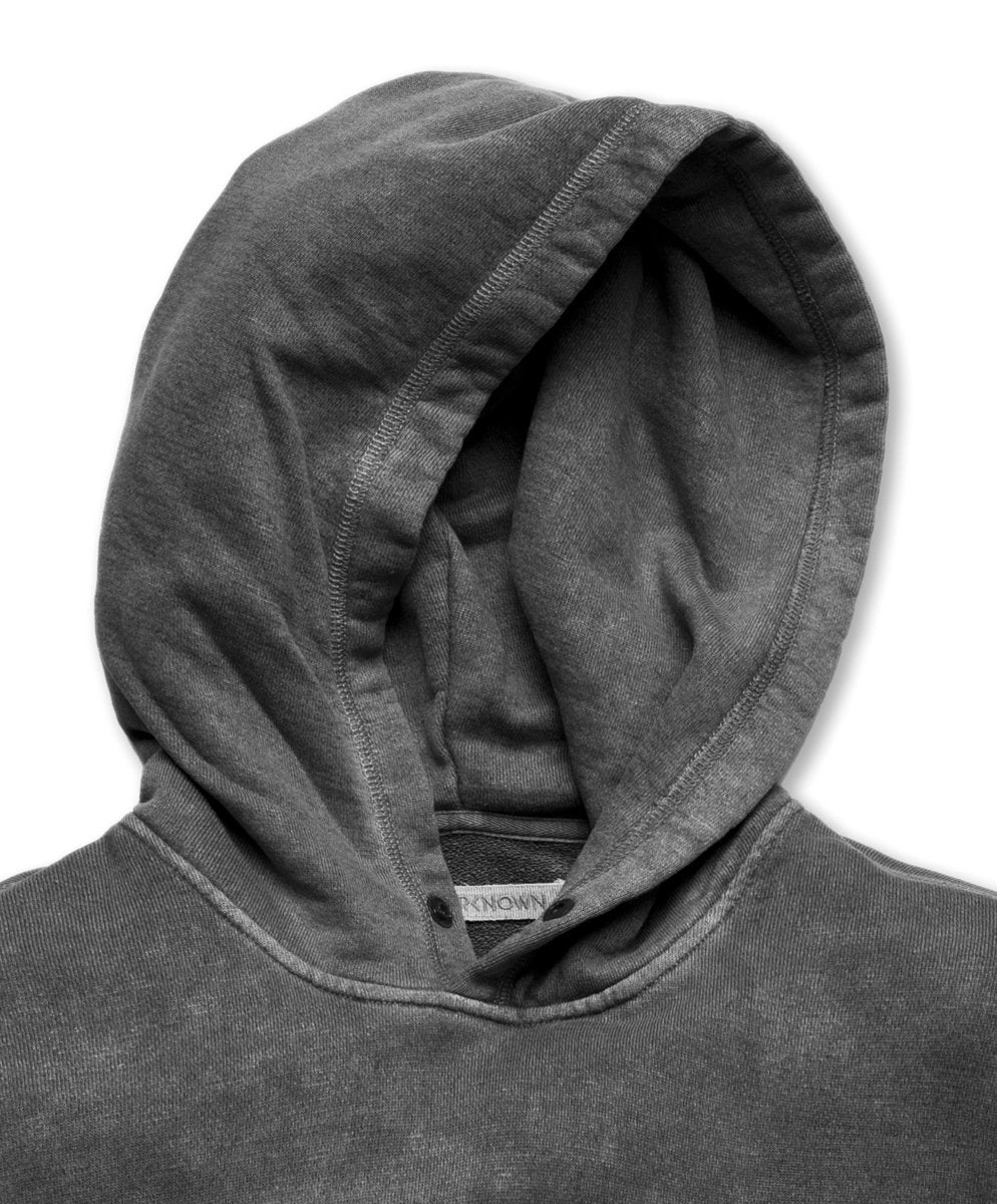 Outerknown- SUR Snap Hoodie- Faded Black