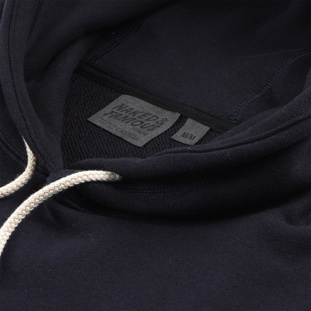 Naked and Famous- Pullover Hoodie- Navy Terry