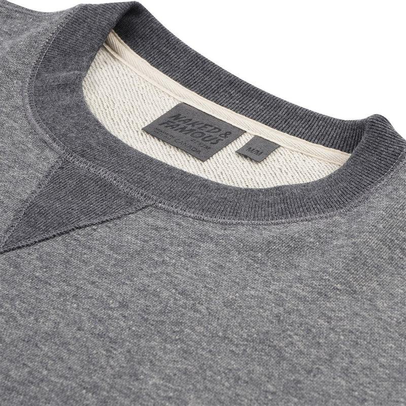 Naked and Famous- Crewneck- Charcoal Terry