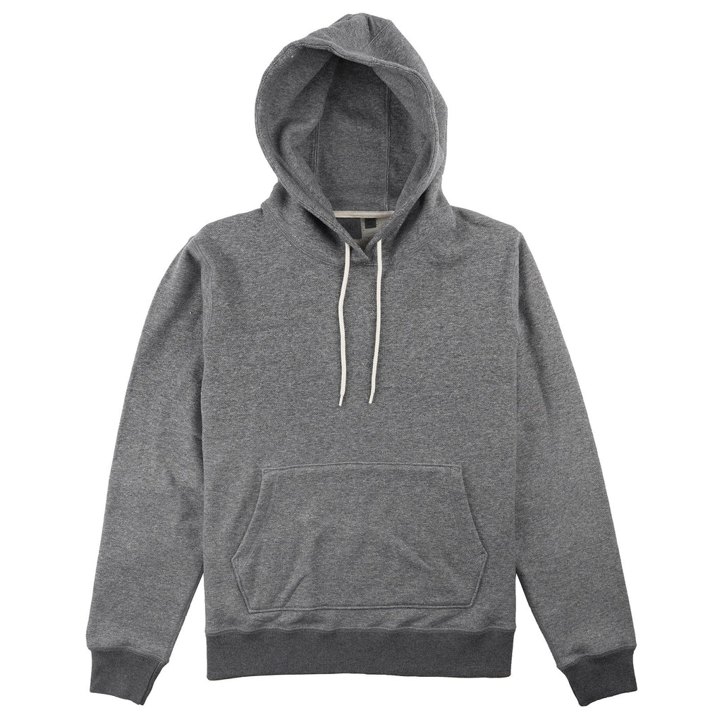 Naked and Famous- Pullover Hoodie- Charcoal Terry