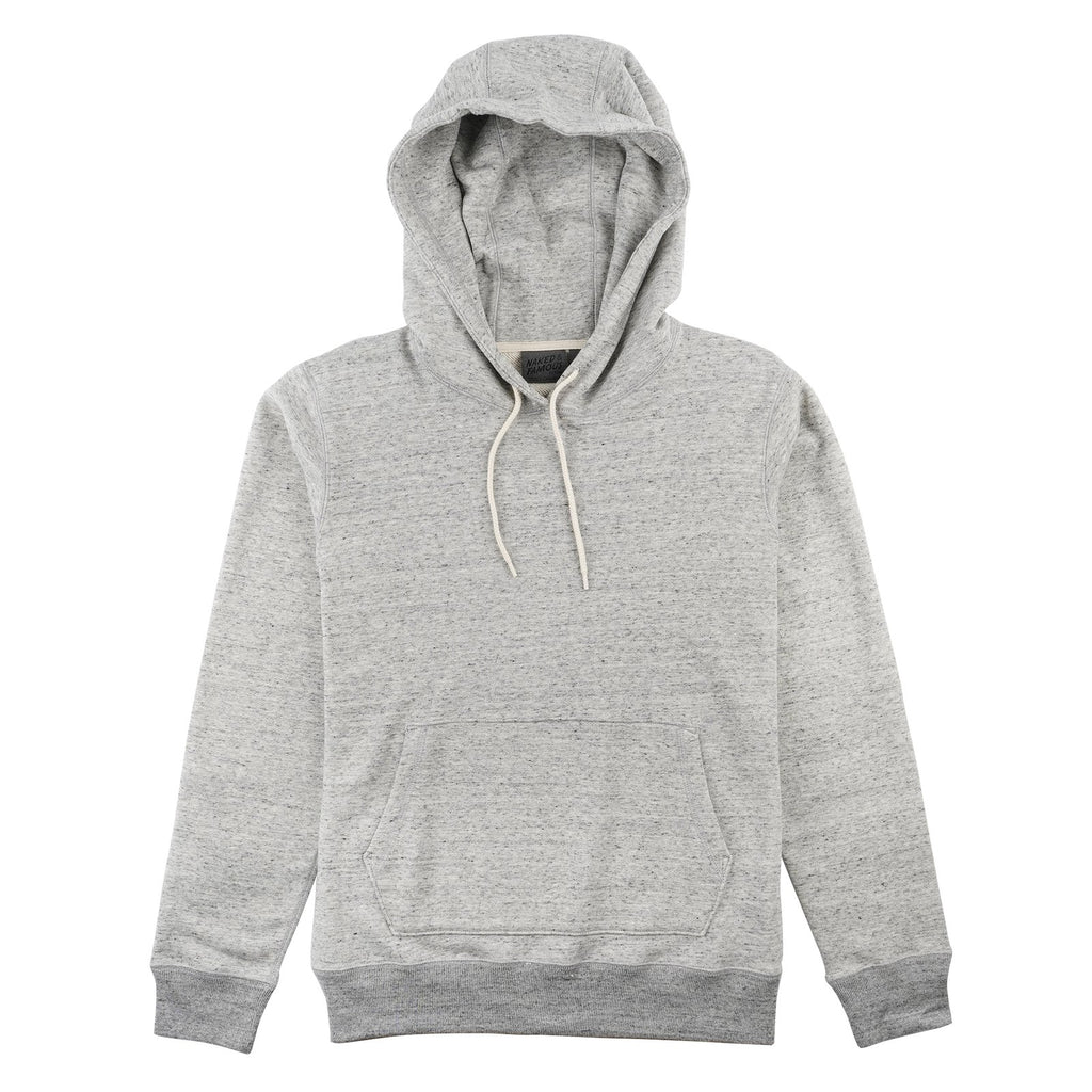Naked and Famous- Pullover Hoodie- Grey Terry