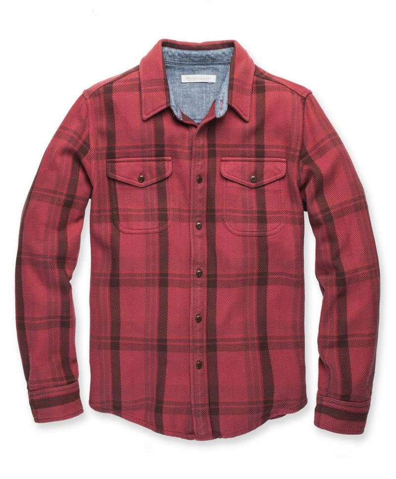 Outerknown- Blanket Shirt- Dusty Red Cusco