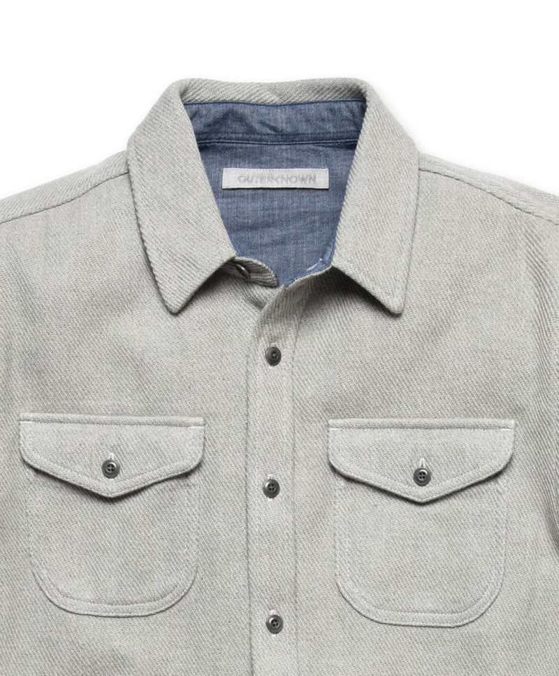 Outerknown- Blanket Shirt- Heather Grey